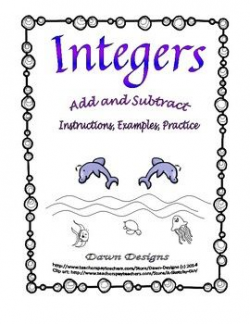 Integer Worksheet: Add and Subtract Integers | Maths, Students and ...