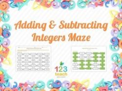 Adding & Subtracting Integers Maze (Worksheet Activity ...