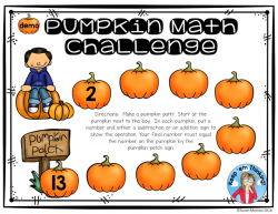 Add Depth and Rigor to Addition and Subtraction with Pumpkin Paths ...