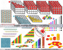 Math Manipulatives Counting Clipart Mega Bundle Set 300