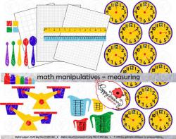 Math Manipulatives Measuring Clipart Mega Set 300 dpi