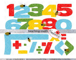 Teaching Math Clipart Set 300 dpi School Teacher Clip Art