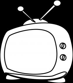 Cartoon Tv Black White | Clipart Panda - Free Clipart Images