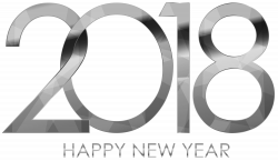 2018 Happy New Year Silver | Gallery Yopriceville - High-Quality ...