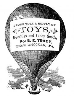 Advertising Clip Art - Hot Air Balloon - Steampunk - The Graphics Fairy