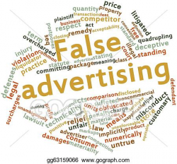 Drawing - False advertising. Clipart Drawing gg63159066 - GoGraph