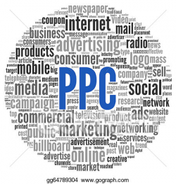 Stock Illustration - Ppc and advertising concept in word tag cloud ...