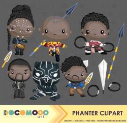 Panther Clipart Superhero Clip Art Hero Png Black Panther