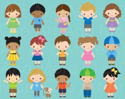 Kids clipart | Etsy