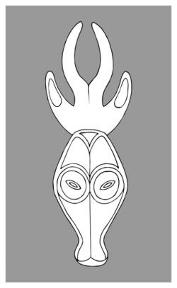 Kwele Mask Line Drawing | art techniques | Pinterest | Masking ...