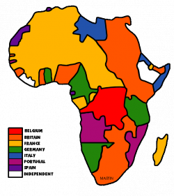 Africa Clip Art by Phillip Martin, Colonial Africa Map