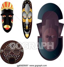 Vector Art - African cultural masks. Clipart Drawing gg65829597 ...