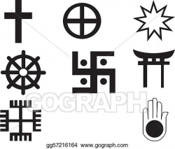Vector Stock - Five different native american and african symbol ...