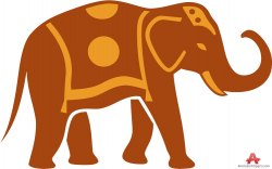 Elephant with Traditional Carpet Clipart | Free Clipart Design Download