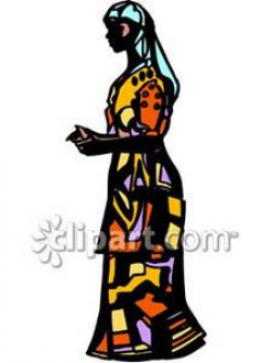 African Woman Wearing Traditional Clothing - Royalty Free Clipart ...