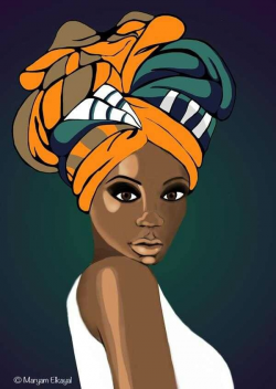 28+ Collection of African Head Scarf Drawing | High quality, free ...