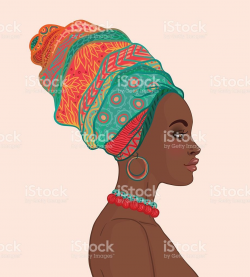 Portrait of beautiful African woman in turban in 2019 | For ...