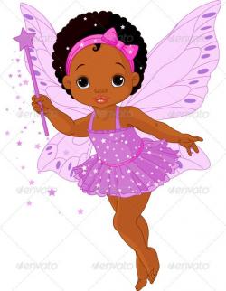 Cute Little Baby Fairy | Black cartoon, Cartoon girls and Ballerina