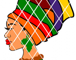 Afro woman with headwrap svgsvg cut fileSilhouette