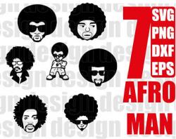 Afro boy svg | Etsy