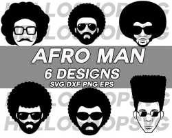 afro svg,afro man svg, afro boy, funky boy, afro hairstyle, afro ...
