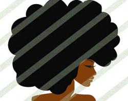 Big afro svg | Etsy
