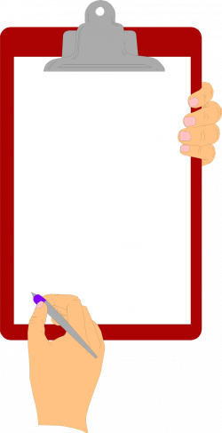 Free Stock Photo: Illustration of hands holding a blank clipboard ...