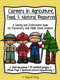Career Coloring and Information Book: Agriculture, Food, & Natural ...