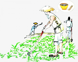 Painting Farming, Arable Land, Farmer, Traditional Chinese Painting ...