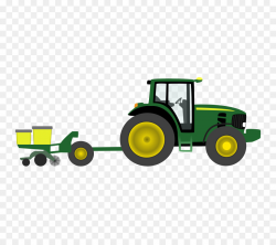 John Deere Tractor Agriculture Farm Clip art - Farm Equipment ...