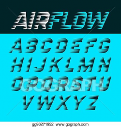 Vector Illustration - Airflow font. EPS Clipart gg86271932 - GoGraph