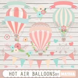 Globos de aire caliente clip art: