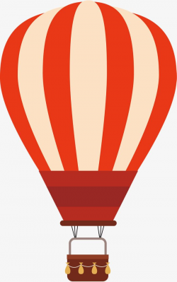 Red Stripe globo aerostático, Vector PNG, Globo De Aire Caliente ...
