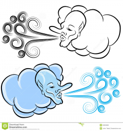 Cold Wind Blowing Clipart