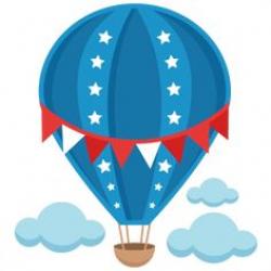 Free clip art of a fun rainbow striped hot air balloon | Sweet Clip ...
