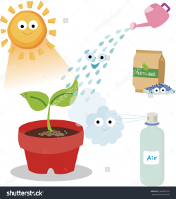 Air and water science clipart