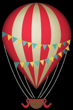 Vintage Clipart Hot Air Balloon transparent PNG - StickPNG