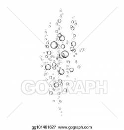 Vector Art - Realistic air bubbles flow on white background. EPS ...