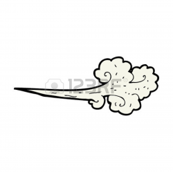 Wind Blowing Victorian Clipart