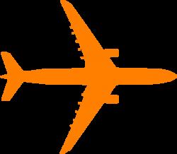 Orange Plane Clip Art at Clker.com - vector clip art online, royalty ...