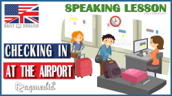 Checking In At The Airport Dialogue - English Conversation - YouTube