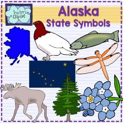 Alaska state symbols clipart | Alaska