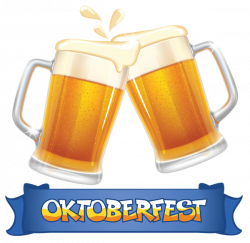 Oktoberfest Blue Banner and Beers PNG Clipart Image   cocina ...
