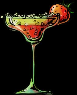 Clipart - Strawberry daiquiri cocktail
