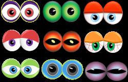 Monster Eyes Clipart