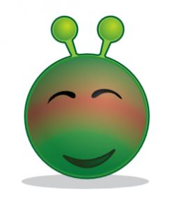 Smiley Green Alien Red Clip Art at Clker.com - vector clip art ...