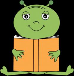 Image of Alien Clipart #2715, Alien Reading A Book Clip Art Free ...
