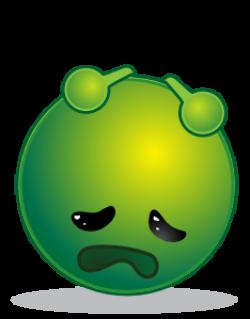 Smiley Green Alien Depresive Clip Art at Clker.com - vector clip art ...