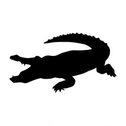crocodile   Animal silhouette   Free illustrations