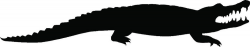Alligator Silhouette Clip Art at GetDrawings.com   Free for personal ...